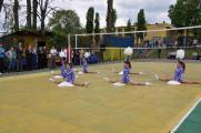 Учасників турніру вітає команда студентів НУБіП України з спортивної аеробіки.
