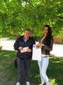Пашкевич І. Ю. у спілкуванні з батьком потенційного  абітурієнта про НУБіП України під час проведення ЗНО