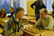 На першій дошці грають сильніші гравці команд: Юрій Слепцов (ф-т ЗВ) і Святослав Гнилоскуренко (ф-т КД).