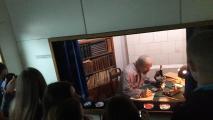 """В музєї студенти на одній із експозицій ознайомились та прослухали інформацію про найстрашніші події в Україні """"Про Голодомор"""""""