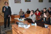 Доктор Томас Плюнтке (Дрезденський університет) доповідає про перспективи співпраці