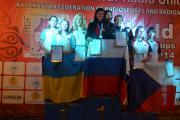 Нагородження О. Пархоменко за 2 місце на чемпіонаті світу зі спортивної радіопеленгації на дистанції 144 МГц (2014.09)