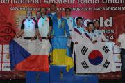 Команда України - чемпіон світу зі спортивної радіопеленгації у діапазоні 3,5 МГц в категорії Ч50 (2014.09.10)
