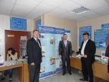 представники НУБіП біля стенду університету під час відкриття Ярмарку професій