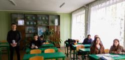 Євгеній Вернигора проводить профорієнтаційну серед учнів Острівської ЗОШ І-ІІІ ступенів  (Київська область, Рокитнянський район)