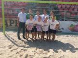 Команда студентів НУБіП України переможець першого чемпіонату Києва з пляжного футболу серед студент 2017 року