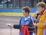 Спартакіада НУБіП України з легкої атлетики 05.2008, судді  фінішу І.Владімірова, Н.Леоненко
