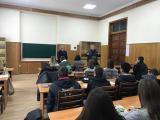 Студенти-міжнародники на зустрічі з Надзвичайним і Повноважним послом Азербайджану в Україні Алієвим Талятом Мусеїб Оглу2017 р.
