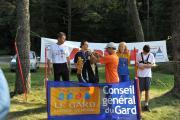 """Франція 2014.08 Нагородження призерів 1 дня змагань """"Course ARDF Les 4 jours de L`Aigoual 2014"""""""