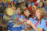 2008.09 Корея українці вболівають і вшановують призерів змагань